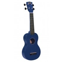 Korala UKS-30-BU soprano ukulele with guitar machine heads, with bag, blue