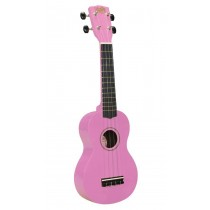 Korala UKS-30-PK soprano ukulele with guitar machine heads, with bag, pink