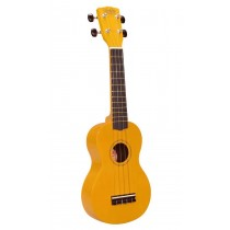 Korala UKS-30-YE soprano ukulele with guitar machine heads, with bag, yellow