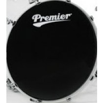 "PREMIER 20"" Supersonic Ebony Bass Head - Trommeskinn"