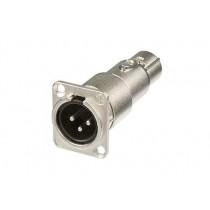 Neutrik 3-pole XLR  male-female feedthrough adapter