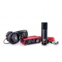 BUNDLE: Focusrite Scarlett Solo Gen3, mikrofon, hodetlf og software