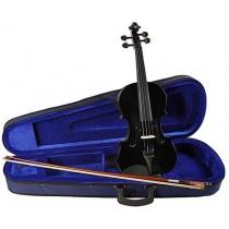 Leonardo LV-1534-BK - Sort prisgunstig 3/4-størrelse fiolin med kasse og bue