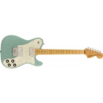 Squier FSR Classic Vibe '70s Tele Deluxe, Maple Fingerboard, Sea Foam Sparkle w/White Pearloid pickguard