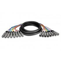 Hosa XLR803 - 8 par XLR multikabel, 3m