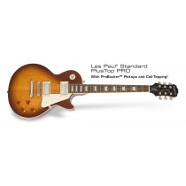 Epiphone Les Paul Standard Plustop Pro m/Probuckers & Coil-Split - Honey Burst