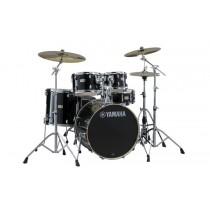 """Yamaha Stage Custom Raven Black SBP2F5HA7 22"""" - Trommesett med stativer"""