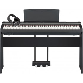 Yamaha P-125 bundle med piano, stativ, pedaler og headset